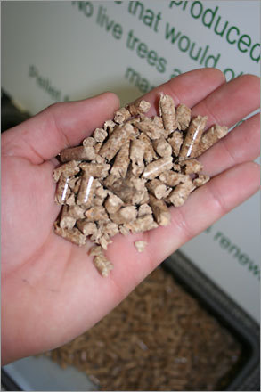One of the cleanest burning fuels, sawdust pellets from Wayland-based Energy Unlimited of New England are used commonly in woodstoves. One 40-pound bag can last up to 46 hours.
