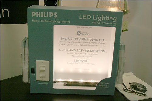 Here, another LED light from Philips and Color Kinetics can save 80 percent on energy costs over regular lighting fixtures.