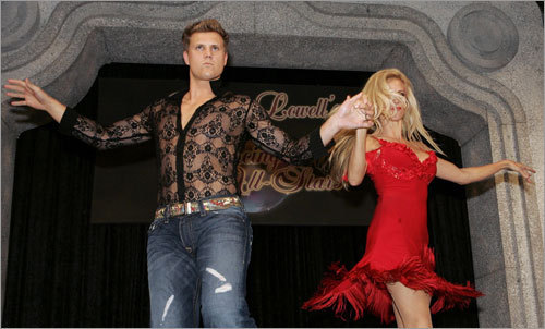 Jonathan Papelbon got gussied up in a black lace shirt for a private dinner benefiting the Mike Lowell Foundation on Saturday night. Papelbon, who declined an invitation to be on ABC's 'Dancing with the Stars,' and teammates Dustin Pedroia, Alex Cora, and Lowell, danced in the Cuban-themed 'Dancing with the All-Stars' event.