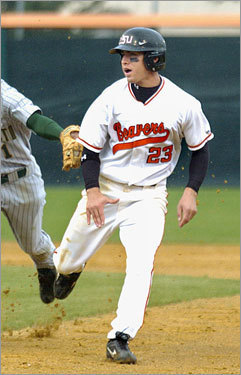 Potent potential Picked in the first round of the 2005 draft out of Oregon State, Ellsbury quickly became the prized position prospect in the Boston organization, a center fielder whose speed, defense, quick bat, and overall athleticism marked him as one of the most exciting young Red Sox players since Nomar Garciaparra.