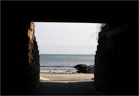 The town beaches and a state park are popular destinations. A railroad underpass known as the Hole in the Wall offers safe access.