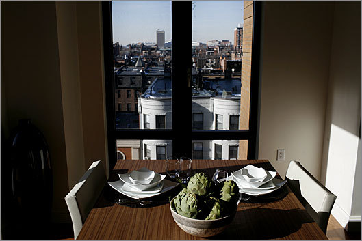 A seventh-floor apartment at the Residences at Mandarin Oriental, Boston, offers a decent view along with dog walking and other amenities.