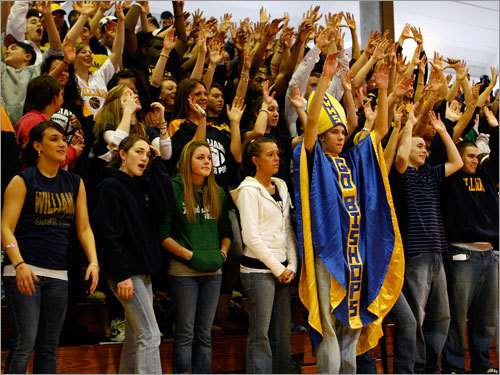 Archbishop Williams fans support their team.