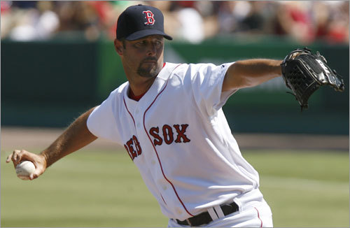 Tim Wakefield, SP Handbook 'update' projection: W-L ERA IP K BB 11-9 4.03 181 123 63 Your turn: <!-- // define variables var date = new Date(); var current_time = date.getTime(); // write SCRIPT tag to browser document.writeln(' '); // -->