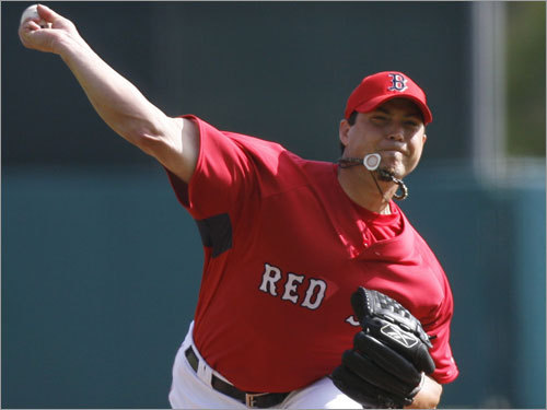 Josh Beckett, SP Handbook 'update' projection: W-L ERA IP K BB 14-8 3.50 203 187 64 Your turn: <!-- // define variables var date = new Date(); var current_time = date.getTime(); // write SCRIPT tag to browser document.writeln(' '); // -->