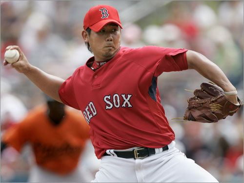 Daisuke Matsuzaka, SP Fast fact: Opponents hit .216 against him his first time through the batting order, .247 the second time, .288 the third time. Lowdown: So much for eight pitches -- Matsuzaka got a little too reliant on one last season, his fastball. The team is well aware of the problem, and they'll work to correct it. After getting through his off-field adjustments last season, the team (and Matsuzaka) hope that the only adjustments the 15-game winner will have to make are batter to batter.