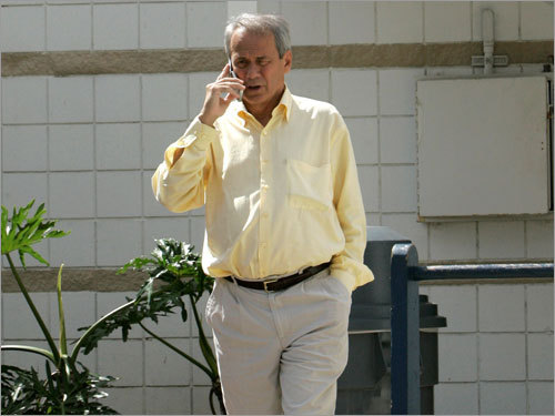 Team president Larry Lucchino worked the phones, trying to figure out how to solve the dispute.