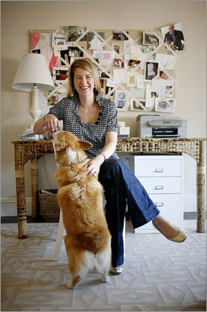 Annsley McAleer, 33, was named a 'young decorator on the verge' last year by Domino magazine. The designer, who has worked for Ralph Harvard Inc. in New York and Carter & Company cq in Boston, now operates her own firm, working mostly with suburban couples in their 30s and 40s with families. She took a chance decorating her workspace/guest bedroom in stain-inviting colors: beige and white. 'I had the couch stain protected,' she said. 'I'm all for lots of color. But I do like bedrooms to be calm. It's where you unwind.'