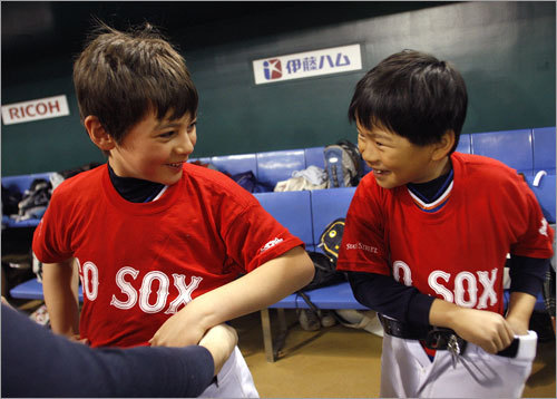These Japanese players took part in the clinic led by Red Sox players.
