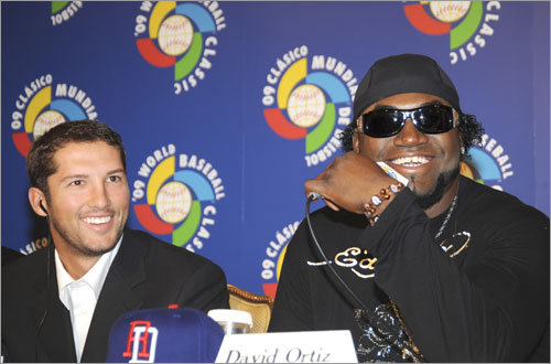 David Ortiz and Huston Street, the Oakland closer, promoted the 2009 World Baseball Classic at a news conference.