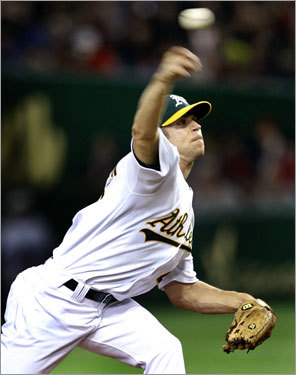 Rich Harden got the call for the A's and was dominant, allowing one run (Manny Ramirez's solo homer) over six innings while striking out nine.