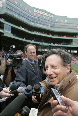 Red Sox chairman and co-owner Tom Werner spoke with members of the media.