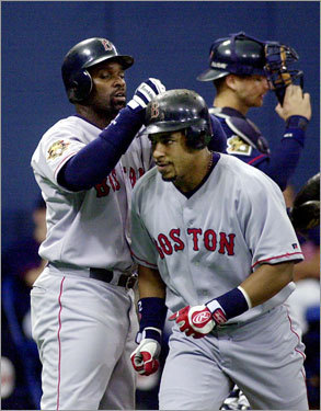 Homer No. 250 At the Hubert H. Humphrey Metrodome, Manny blasted his 250th home run against Brad Radke of the Minnesota Twins on May 17, 2001.