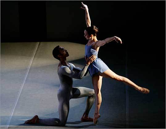 Henoch Spinola (left) and Desiree Reese danced in the performance of 'Return,' during the Jose Mateo Ballet Theatre's 'Back to Cuba' dance program at The Sanctuary Theatre.
