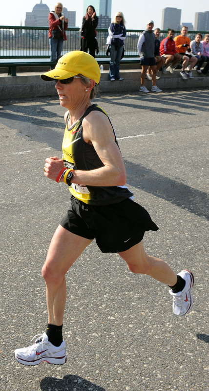 New England running legend Joan Samuelson competed in her last marathon Sunday. Like she's done in every previous marathon, Samuelson finished the race.