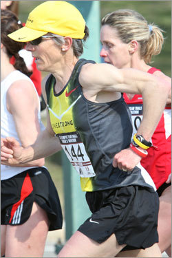 Joan Samuelson competes in Sunday's Olympic marathon trials.