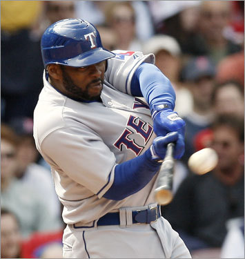 Milton Bradley connected on a three-run home run in the sixth inning.