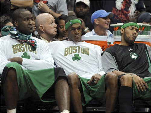 Photo of Rajon Rondo & his friend basketball player  Kendrick Perkins - NBA