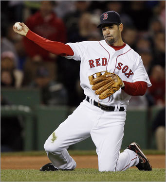 The Red Sox returned Mike Lowell to the starting lineup Tuesday. The third baseman did not get a hit in three at bats.