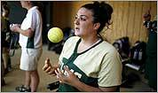 Without legs, catcher Gina Gilday plays for the love of the game
