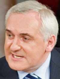 Bertie Ahern spoke in Washington yesterday.