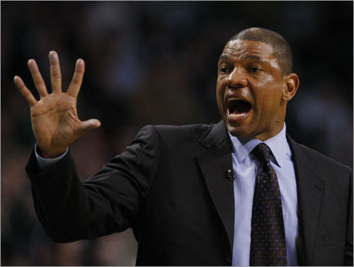 7. Doc has gotten some love All you ever hear from Celtics fans on talk radio, blogs, and message boards is what coach Doc Rivers is doing wrong. But Rivers has also done a couple of things right this year, guiding his team to 66 wins, winning the NBA's Coach of the Month award twice, and finishing second in Coach of the Year voting. His players love him, and he's great with the media. Still, only winning will keep him in the good graces of Celtics fans.