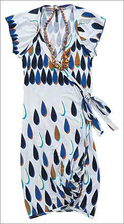 Wrap dress, in polyester-spandex, $62 at Ku De Ta.