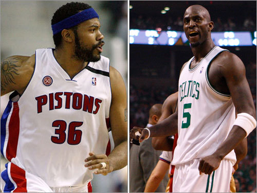 Power forwards This could be the premiere matchup of the series, as two All-Star big men battle it out in the post. Detroit's Rasheed Wallace averaged 13.2 points and 5.4 rebounds per game against the Magic in the Eastern Conference semifinals. Kevin Garnett averaged 19.6 points and 10.9 boards vs. the Cavaliers. Garnett has double-doubles in eight of Boston's 14 playoff games so far.