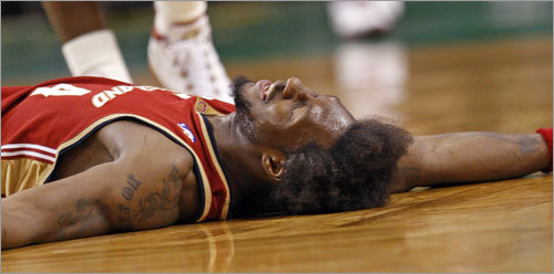 Ben Wallace and his Cavaliers were down for the count in Game 7.