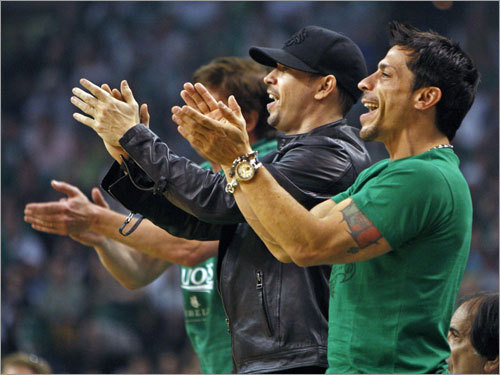 Spotted in the crowd: New Kids on the Block's Donnie Wahlberg and Danny Wood.