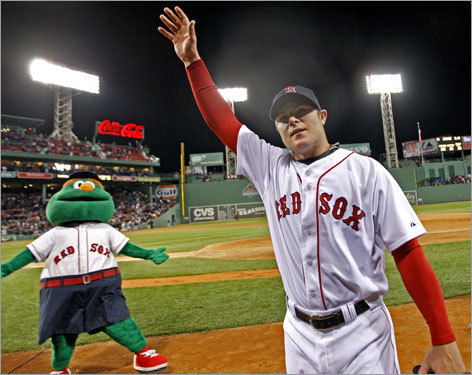 Lefthander Jon Lester, the 24-year-old who survived cancer to pitch the World Series clincher for the Red Sox last fall, threw the 18th no-hitter in Red Sox history on Monday night, striking out nine Royals and walking two. He saluted the roaring Fenway Park crowd after the game.