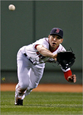 Lester's no-hitter wouldn't have been possible without a great diving catch by Jacoby Ellsbury in the fourth inning.