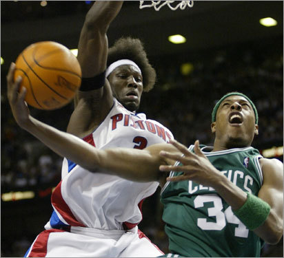 This isn't the first Boston-Detroit playoff tilt for Pierce, who was on the Celtics in 2002, when the teams last clashed in the Eastern Conference semifinals. Boston won in five games, but Detroit has had more success in recent years. Obviously, all eyes will be on this matchup this year.