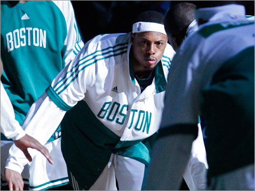 Paul Pierce looked focused from the moment he set foot on the court during introductions.