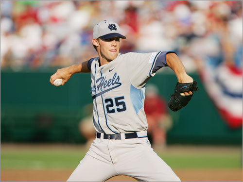Daniel Bard Bard is a prime example of why you shouldn't judge a prospect too soon. After a star career at UNC, Bard struggled in the minors last year, walking more than he struck out and allowing 59 runs in 75 1/3 innings. But he's turned it around big-time in 2008, as he allowed just two runs in 28 innings at low-A Greenville while striking out 43 and walking just four batters. He's been promoted to Portland, and he's still just 22.