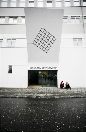 The outside of the cavernous Reykjavík Art Museum.