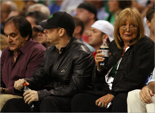Actor Donnie Wahlberg and Marshall were in close proximity for Game 5.