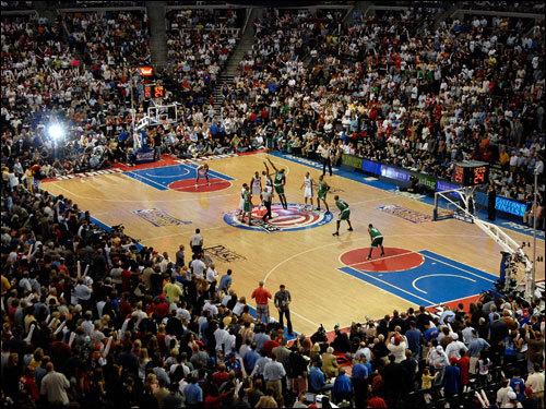Tip off for Game 6 of the Eastern Conference Finals between the Boston Celtics and the Detroit Pistons at the Palace at Auburn Hills.