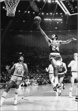 Game 7, 1969 -- Russell, Jones exit as champions A 17-point lead in the fourth quarter for the Celtics is nearly blown, but Boston holds on in the final minute to take their 11th championship in 13 years with a 108-106 victory. Sam Jones (pictured) ends his career by fouling out after scoring 24 points. Three months later, player-coach Bill Russell announces his retirement.