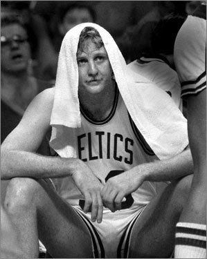 Game 5, 1984 -- The heat game With temperatures at 97 degrees inside, the Garden is hot. But Larry Bird (pictured) is even hotter, going 15 for 20 and scoring 34 points to power the Celtics to a 121-103 victory. Laker immortal Kareem Abdul-Jabbar on the heat and its effect on his team: 'It was like we were running in mud.'