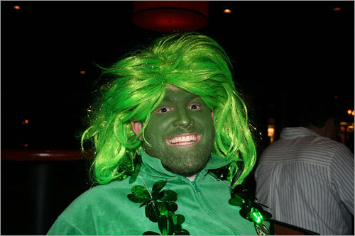 Erik (from N.H.) models his Bruce Banner-inspired makeup. Send us your Celtics fan photos!