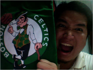 Dennis from Cebu City in the Philippines has been a Celtics fan since the days of Larry Bird. Send us your Celtics fan photos!