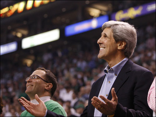 U.S. Senator John Kerry was on hand for Game 1 of the NBA Finals.