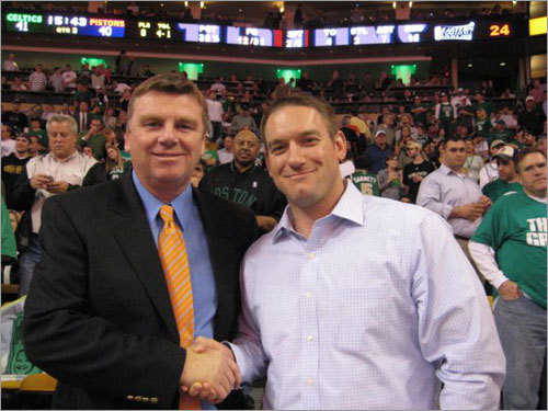 Bill found local newsman Mike Lynch at a Celtics game and demanded a photo with him. Send us your Celtics fan photos!