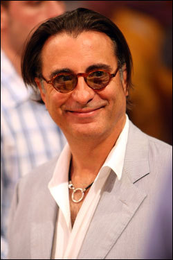 Ocean's 13 star Andy Garcia looked on during the game.