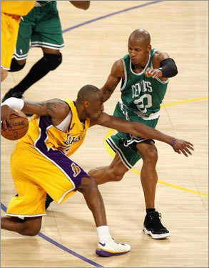 Ray Allen tried to match Kobe Bryant step-for-step late in the fourth quarter.