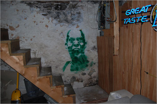 Matt painted this homage to the Big Ticket in his buddy's basement. Send us your Celtics tribute photos!