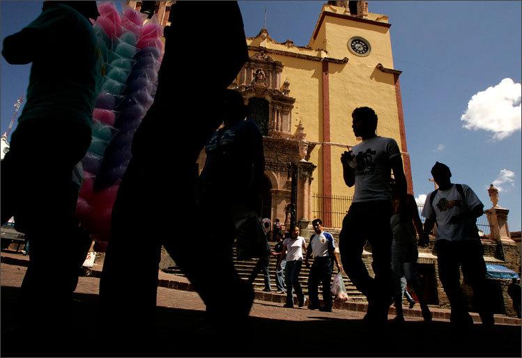Thousands attend the Cervantino Festival in celebration of Cervantes in Guanajuato, photographed by Essdras M Suarez