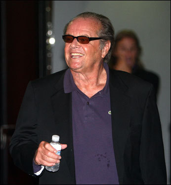 Star of 'The Departed' and Laker fan Jack Nicholson walked toward his seat before Game 4.
