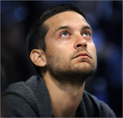 Actor Tobey Maguire's Spider-Sense might have been tingling as he watched Game 4 of the NBA Finals.